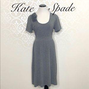 KATE SPADE XL GREY 100% SOFT WOOL DRESS